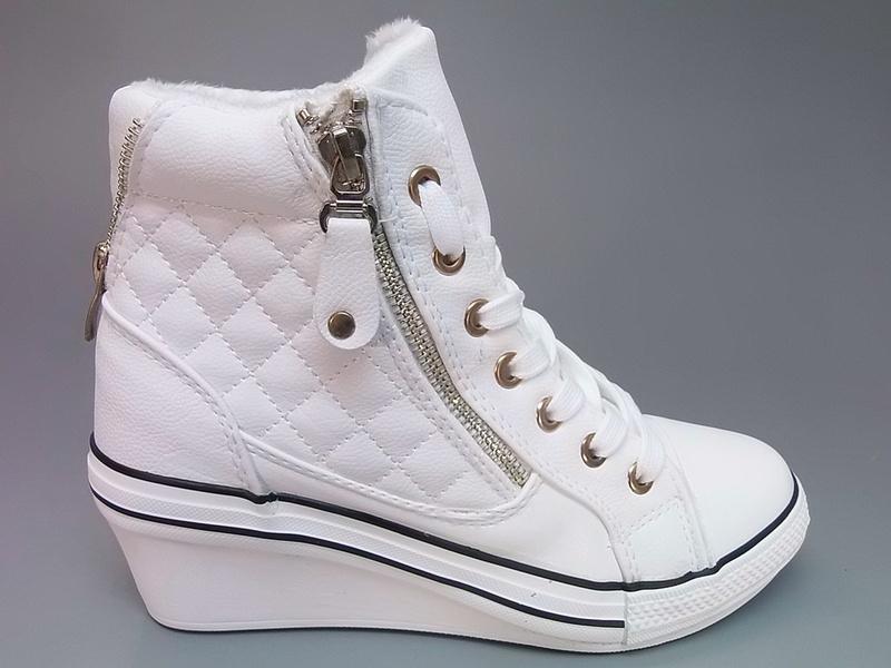 e14c196a568 Дамски бели кецове на платформа - Nancy.bg - онлайн магазин