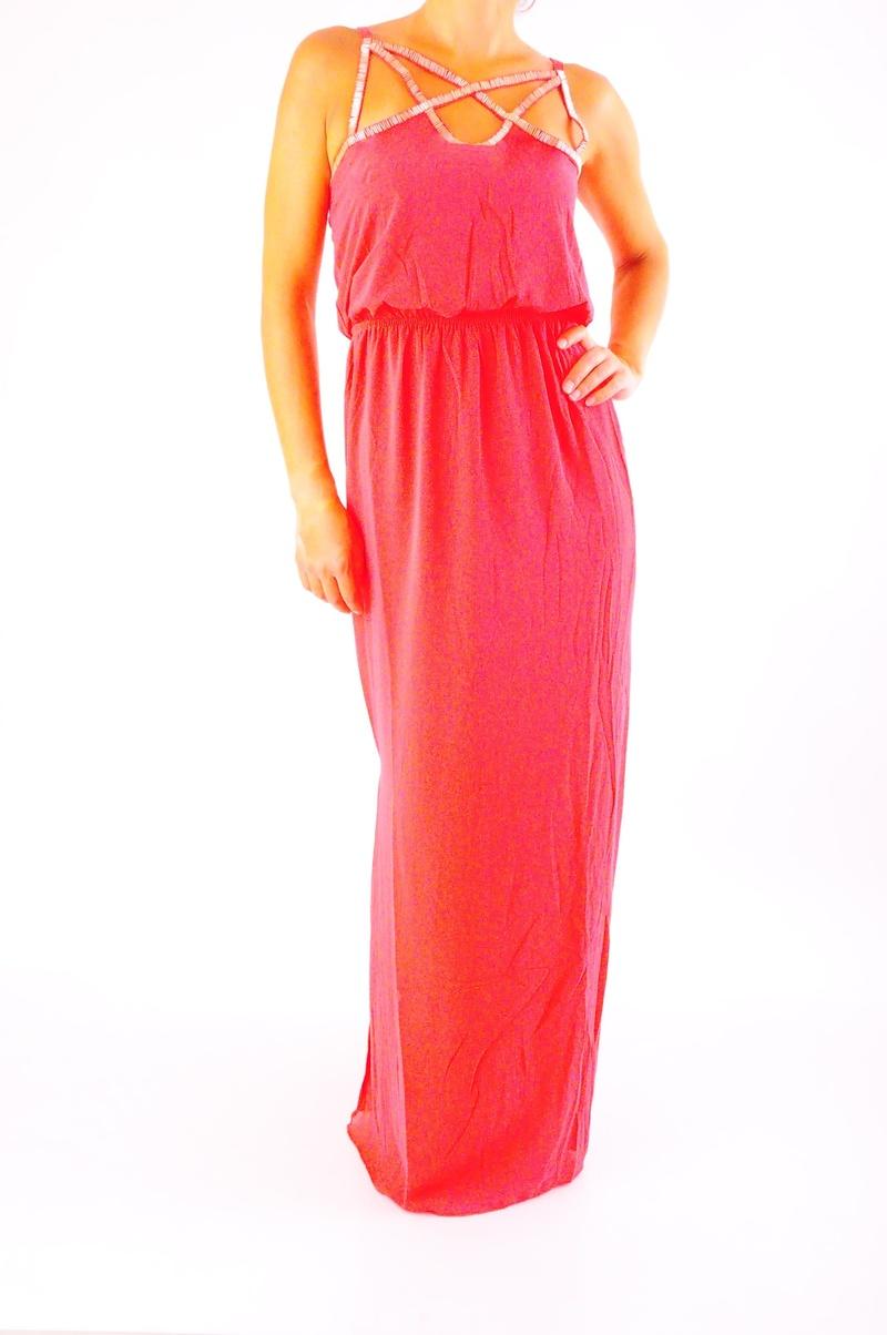 Дълга дамска рокля три цвята