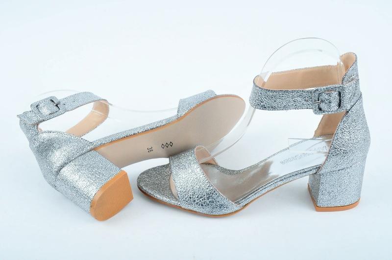 ad6eddb527c НОВО! Дамски сандали на ток-Сребро - Nancy.bg - онлайн магазин