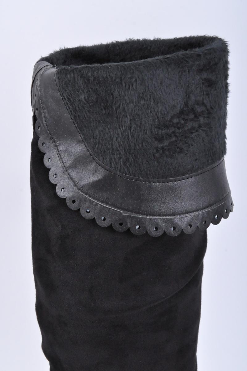 НОВО! Дамски чизми-Велур с капси