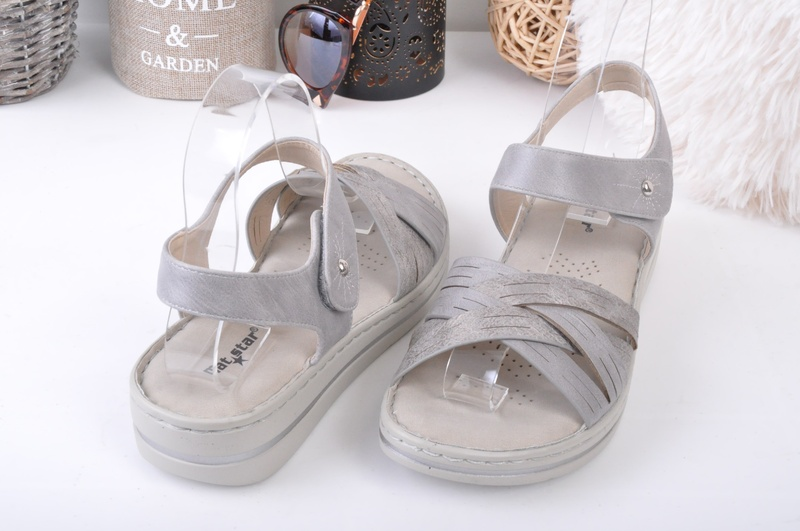 NEW! Сиви дамски сандали