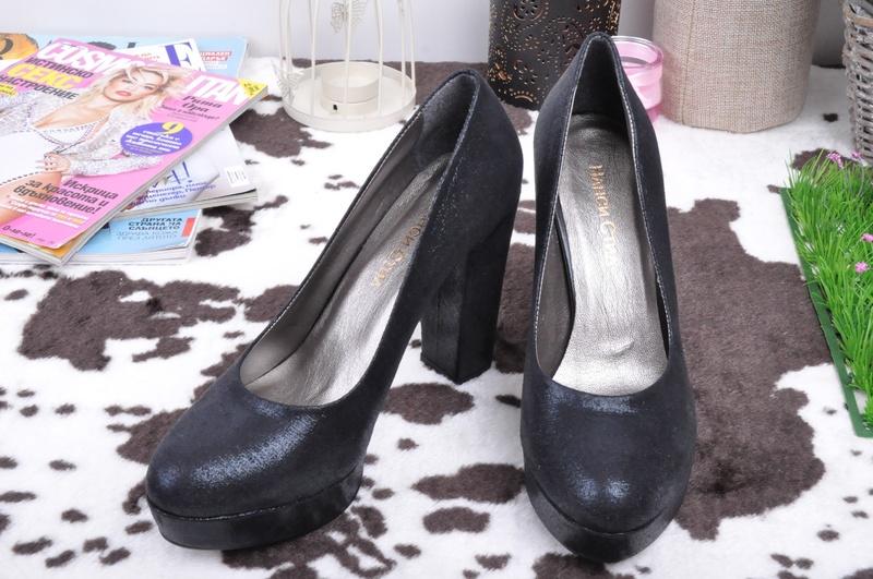 НОВО! Елегантни обувки на ток-Текстил
