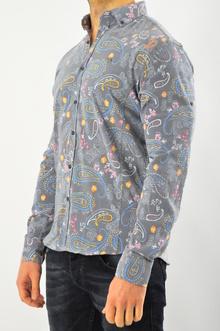 Шарена сива мъжка риза