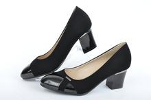 НОВО! Дамски обувки на ток-Лак и набук