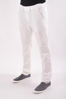 Мъжки летен панталон-Бял