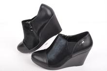 НОВО! Дамски обувки с цип и ластик-Платформа