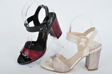 Дамски сандали на ток-Два цвята