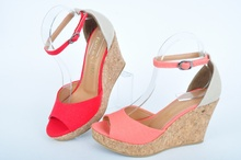 NEW! Дамски сандали с платформа корк-Два цвята