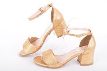 НОВО! Златисти дамски сандали
