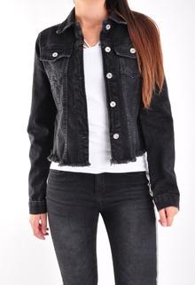 NEW! Черно дамско дънково яке