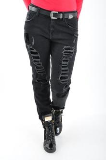 NEW! Дамски черни дънки Replus