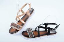 НОВО! Дамски сандали с камъчета-Два цвята
