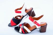 НОВО! Цветни дамски сандали на ток