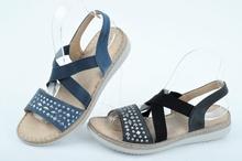 NEW! Дамски сандали с ластик-Два цвята