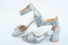 НОВО! Дамски сандали на ток-Сребро