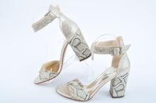 NEW! Златисти дамски сандали на ток