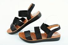 NEW! Черни дамски сандали с ластик