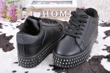 Дамски обувки на платформа-Камъчета