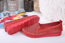 Дамски обувки естествена кожа-Hand Мade