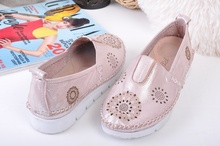 Дамски обувки естествена кожа-Седеф