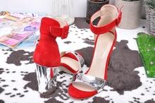 Дамски сандали Велур/Лак - Два цвята