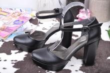 НОВО! Дамски сандали на ток-Кожа