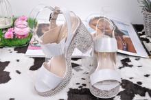 Дамски сандали на ток/платформа