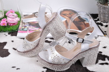 НОВО! Дамски сандали ток/платформа