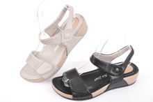 Дамски шити сандали с две лепки