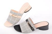 НОВО! Дамски чехли на ток-Два цвята