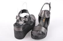 Дамски сандали на платформа-Графит