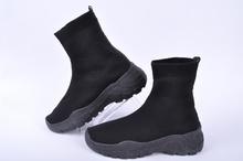 NEW! Дамски кецове тип чорап-Черни