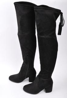 NEW! Дамски чизми на ток-Велур