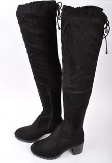НОВО! Дамски чизми-Велур с връзки