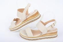 Дамски сандали с цветна платформа
