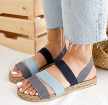 NEW! Дамски ниски сандали с ластик