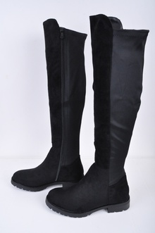 NEW! Дамски чизми Велур и Стреч