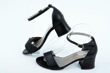 Черни дамски сандали на ток