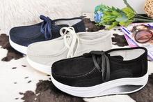 Дамски обувки от естествен велур - Три цвята