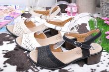 НОВО! Дамски сандали нисък ток-Три цвята