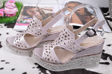 NEW! Розови сандали на платформа