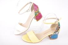 НОВO! Дамски сандали с нисък ток