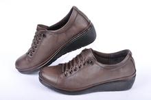 Дамски обувки от естествена кожа на платформа
