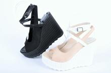 Дамски сандали висока платформа