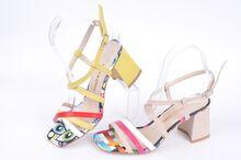 НОВО! Многоцветни дамски сандали на ток