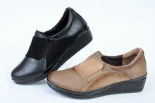 NEW! Дамски обувки от естествена кожа на ниска платформа